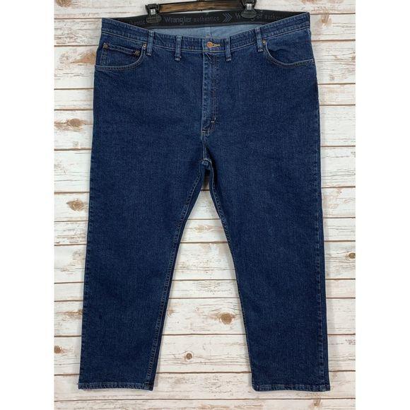 Wrangler Mens Big /& Tall Relaxed Fit Comfort Flex Waist Jean Jeans